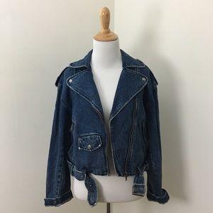 Vintage 90s Espirit Denim Moto Jacket